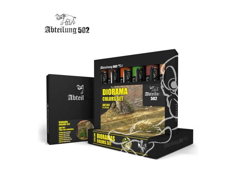Abteilung 502 set de peinture a l'huile abt307 SET COULEURS Pour DIORAMAS
