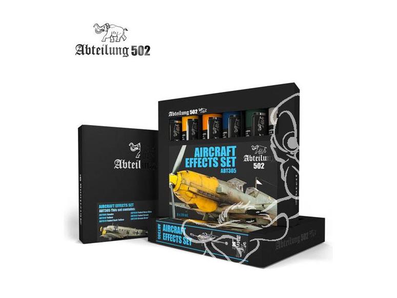 Abteilung 502 set de peinture a l'huile abt305 SET EFFETS AVIONS