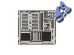 Eduard photodecoupe 36078 SD.KFZ.7 ZUGKRAFTWAGEN 8T ENGINE 1/35