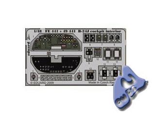 EDUARD photodecoupe 49441 B-24J INTERIEUR COCKPIT 1/48