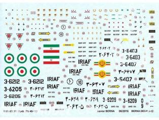 DECALQUES BERNA DECALS BD48-122 Dassault Mirage F1 Iran Air Force 1/48