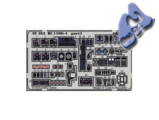 EDUARD photodecoupe 49463 BF 110G-4 1/48