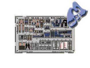 EDUARD photodecoupe 73345 BAC LIGHTNING F.3 1/72