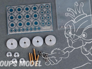 HOBBY DESIGN photodecoupe 07-0048 Set de freins Mc Laren MP4/6 1/20