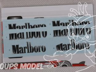HOBBY DESIGN DECALS 04-0014 Logos Marlboro 248F1 1/20