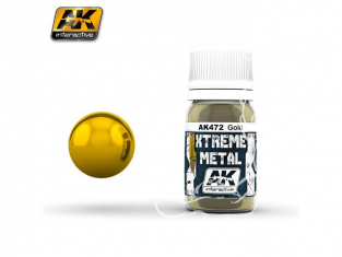 AK interactive XTREME METAL AK472 GOLD Or 30ML