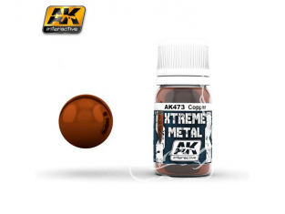 AK interactive XTREME METAL AK473 COPPER Cuivre 30ML