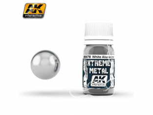 AK interactive XTREME METAL AK478 WHITE ALUMINIUM 30ML