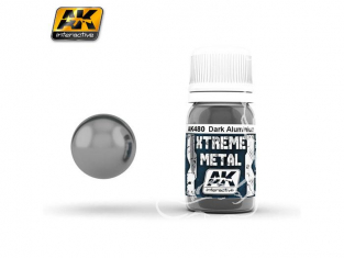 AK interactive XTREME METAL AK480 DARK ALUMINIUM 30ML