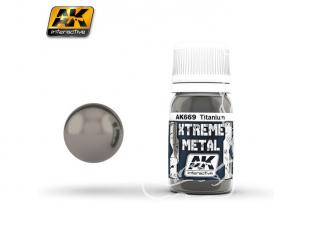 AK interactive XTREME METAL AK669 TITANIUM 30ML