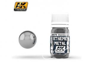 AK interactive XTREME METAL AK670 STAINLESS STEEL 30ML