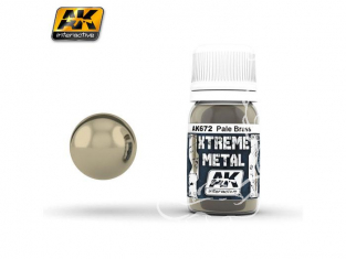 AK interactive XTREME METAL AK672 PALE BRASS 30ML