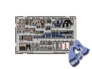 EDUARD photodecoupe SS345 BAC LIGHTNING F.3 1/72