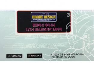 Hobby Design Decals 04-0044 Logos Hamann 1/24