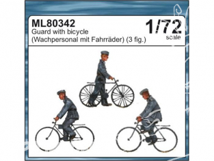 CMK figurine ML80342 Gardes a bicyclette Allemand 1/72