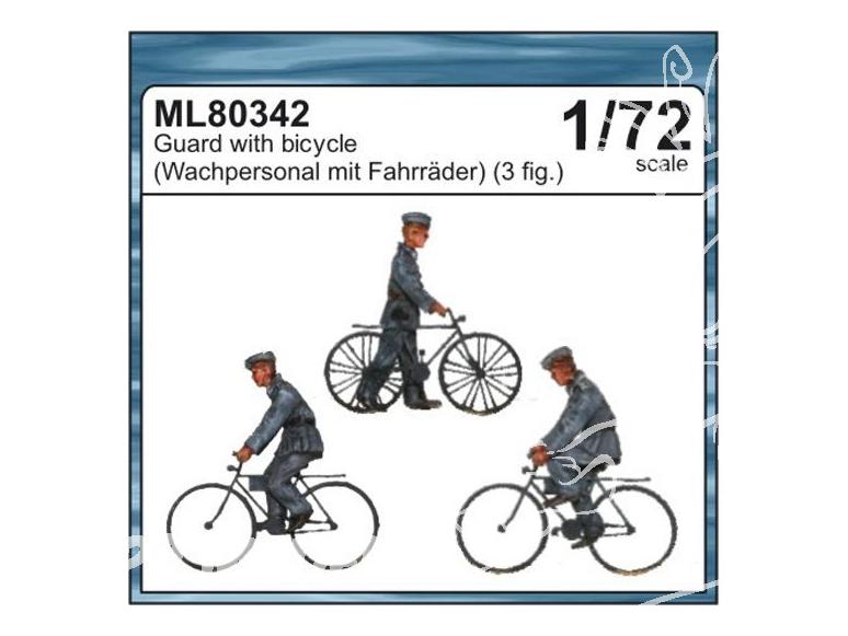 CMK figurine ML80342 Gardes a bicyclette Allemand 1/72
