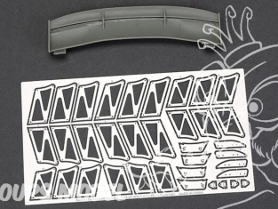 Hobby Design Amélioration 03-0409 Aileron Voltex GT Type 5 150cm 1/18