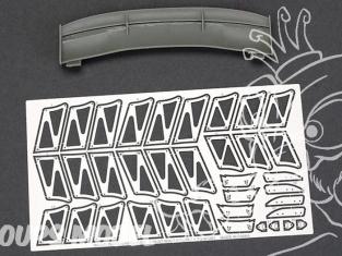 Hobby Design Amélioration 03-0408 Aileron Voltex GT Type 5 180cm 1/18
