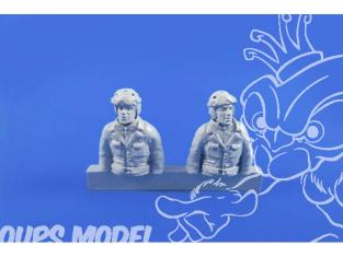 CMK Personnage resine F48312 CONDUCTEUR ET MITRAILLEUR DE CHAR US ( 2x Demi Figurines) Pour Char SHERMAN 1/48