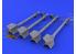 Eduard kit d'amelioration brassin 648028 AIM-9B Sidewinder 1/48