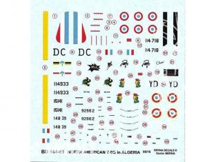 Decalques Berna decals BD144-11 North American T-6G en Algerie 1/144