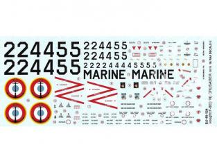 DECALQUES BERNA DECALS BD48-124 Vought F-8E (FN) Crusader 1/48