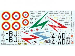 DECALQUES BERNA DECALS BD32-42 Dassault Mirage IIIE part 1 Lafayette 1/32