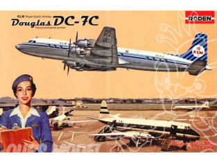 RODEN maquettes avion 302 DOUGLAS DC-7C ROYAL DUTCH AIRLINES (KLM) 1/144