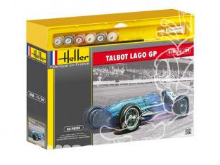 Heller maquette voiture 50721 TALBOT LAGO GP ensemble complet 1/24