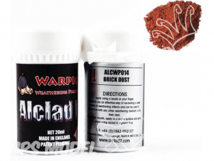 Pigments Alclad II Warpigs ALCWP014 Pigments Poussiere de briques 20ml