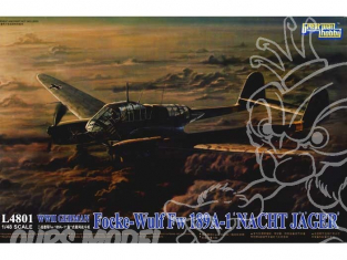 Great Wal Hobby maquette avion L4801 FOCKE WULF Fw189A-1 CHASSE DE NUIT 1943 1.48