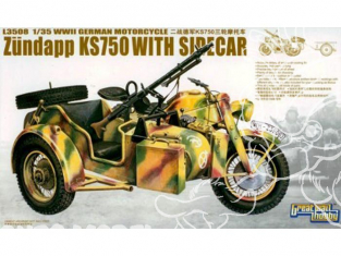 Great Wall Hobby maquette militaire L3508 Zundapp KS750 Sidecar 1/35