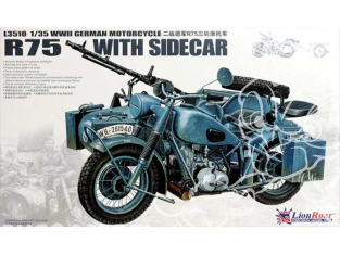 Great Wall Hobby maquette militaire L3510 Bmw R75 Sidecar 1/35