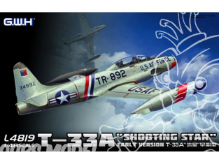 "Great Wal Hobby maquette avion L4819 T-33A ""Shooting Star"" Premiere version 1/48"