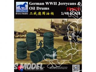 Bronco maquette accessoires avion FB 4020 Jerrycans et bidons Allemands WWII 1/48