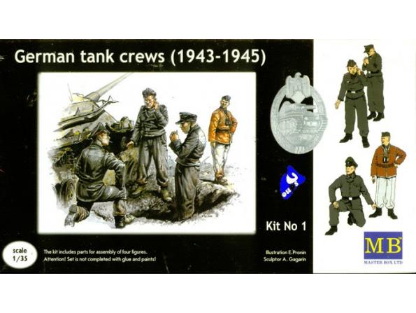 Master Box maquette militaire 3507 EQUIPAGE DE PANZER 1/35