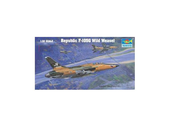 "Trumpeter maquette avion 02202 REPUBLIC F-105G ""WILD WEASEL"" 1/3"
