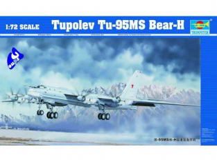 Trumpeter maquette avion 01601 TUPOLEV Tu-95 MS Bear-H 1/72