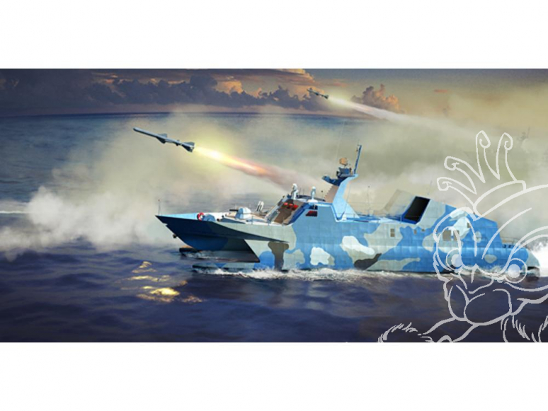 TRUMPETER maquette bateau 00108 VEDETTE LANCE-MISSILES TYPE 22 MARINE POPULAIRE CHINOISE 2008 1/144