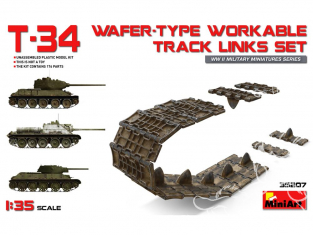 Mini Art maquette accessoires militaire 35207 Set de chenilles type gaufré pour T-34 1/35
