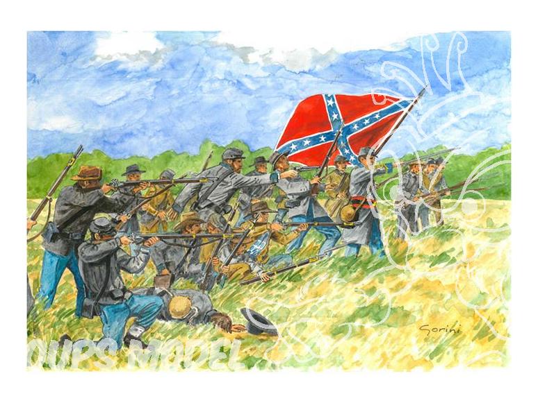 ITALERI maquette militaire 6178 Infanterie Confédérée 1/72