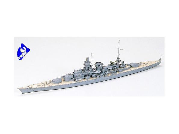 TAMIYA maquette bateau 77518 German Scharnhorst Battleship 1/700