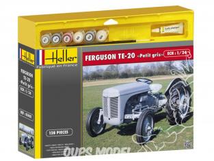 """Heller maquette tracteur 50401 Fergusson TE-20 """"Petit Gris"""" Ensemble complet 1/24"""