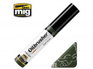MIG Oilbrusher 3507 Vert foncé Peinture a l'huile avec applicateur