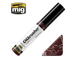 MIG Oilbrusher 3512 Marron foncé Peinture a l'huile avec applicateur