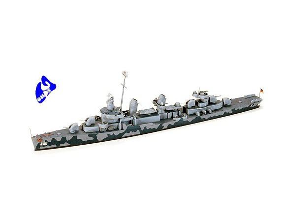 TAMIYA maquette bateau 31902 USN DD445 Fletcher 1/700