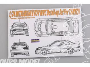 Hobby Design Amélioration 02-0267 Mitsubishi EVO V WRC pour kit tamiya 1/24