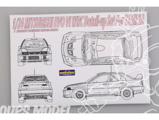 Hobby Design Amélioration 02-0268 Mitsubishi Evo VI WRC pour kit tamiya 1/24