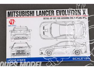 Hobby Design Amélioration 02-0323 Mitsubishi Lancer Evolution X pour kit aoshima 1/24