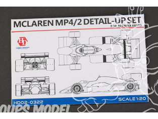 Hobby Design Amélioration 02-0322 Mc Laren MP4/4 pour kit beemax 1/20